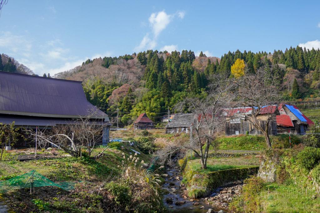 京都・宮津市上世屋の集落