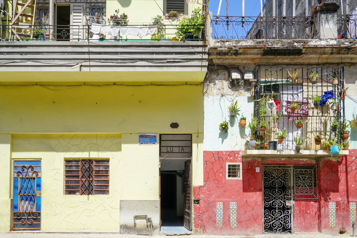 キューバ・ハバナ旧市街 家