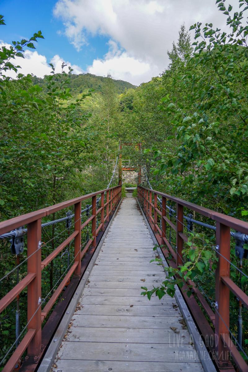 平湯キャンプ場の吊り橋