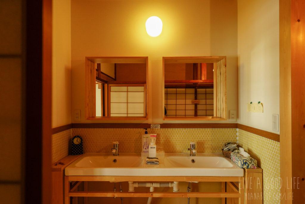 ゲストハウスとまる洗面スペース