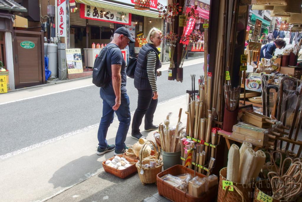 成田・新勝寺参道にある竹細工の店