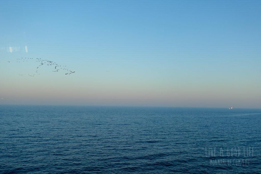 豪華フェリータリンクラインの船窓から
